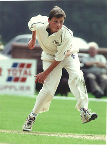15 year-old Mallards spinner Matthew Seager in Carter Cup Final action.  August 2003. Picture  Eastern Daily Press
